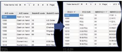 自動翻訳機能でレポート・帳票が日本語で閲覧可能